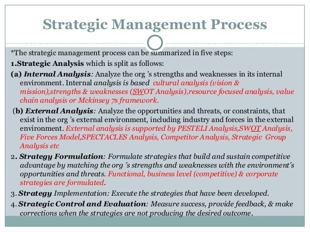 Thesis in strategic management