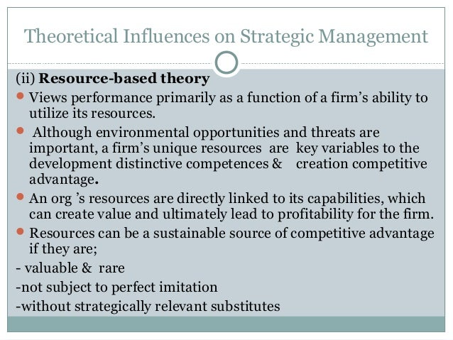 value based theory competitive advantage