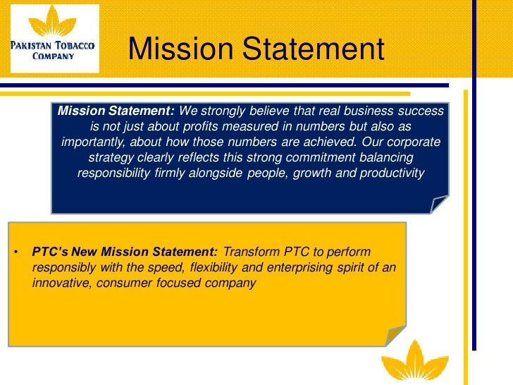 analysis of mission statement of ptcl Pakistan telecommunication company limited (urdu: پاکستان مخابرات    ),  commonly known as ptcl, is the national telecommunication company in  pakistan.