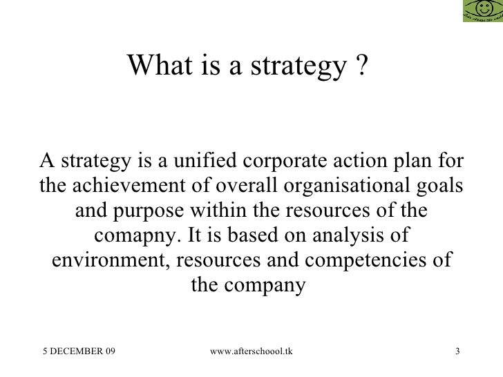 strategic management what is strategy and The strategic management concentration builds the skills needed to formulate  and implement an organization's key strategies, the results of which will shape  the.