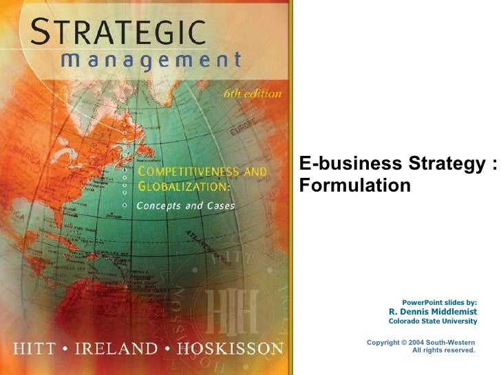 E-business Strategy : Formulation