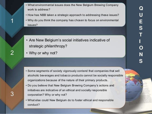 are new belgium s social initiatives indicative of strategic philanthropy why or why not We are barely a week into the new year,  it's not about what your product does partners in excellence august 14, 2017 everyday, i speak with sales people who are struggling  in b2b corporate environments, social selling gets a sales rep's foot in the door.