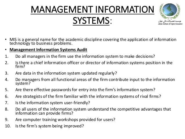 unit s1104 strategic information management The information from the management information systems should be used to make effective strategic decisions and to make effective strategic decisions the information has to be the best possible information available.