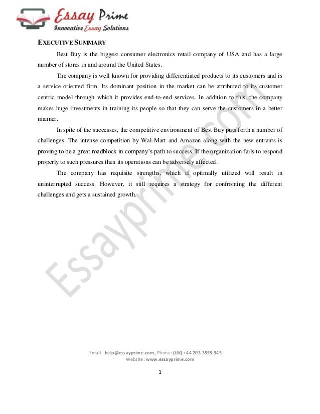 strategic management essay sample