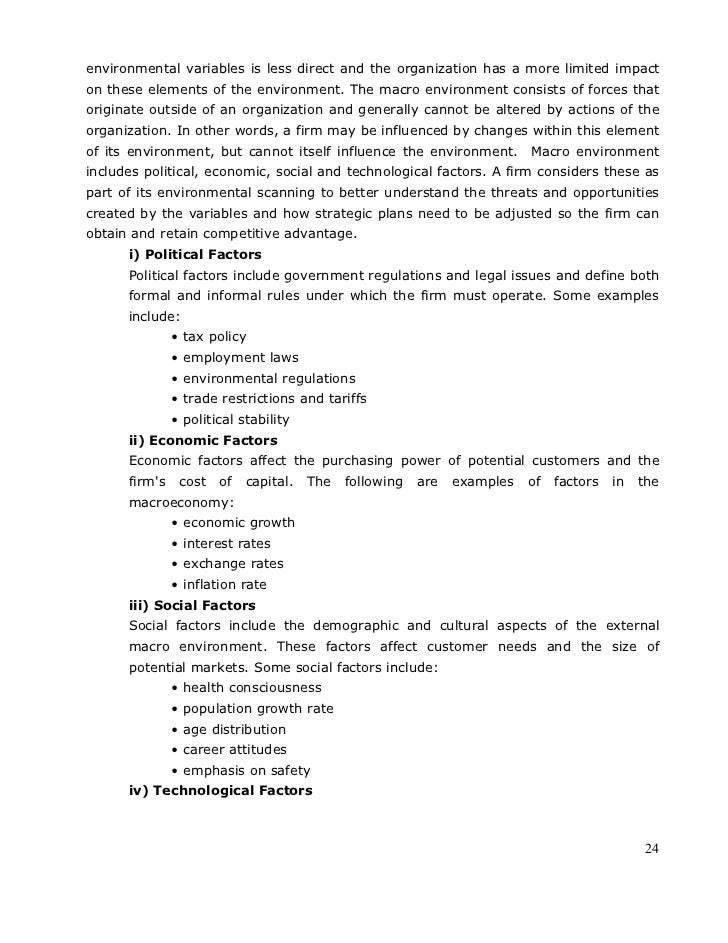 Strategic management full notes 24 environmental fandeluxe Images