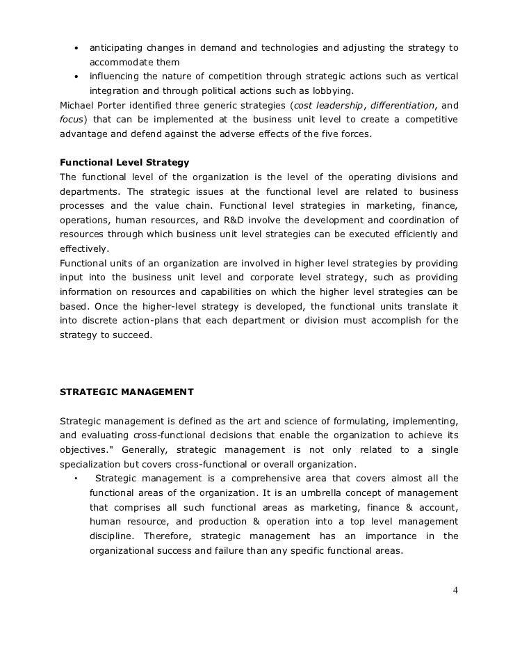 Notes For Strategic Management Pdf