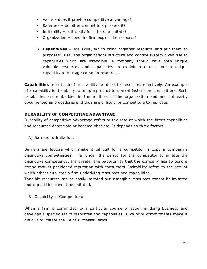 Strategic management full notes 46 value fandeluxe Images