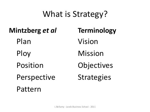 """the strategy process by mintzberg lampel quinn and ghosal The strategy process by mintzberg, lampel, quinn, ghoshal   strategy- development processes to match the global competitive reality"""" (nicolas,  michael."""