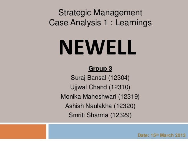 newell corporation swot analysis and newell rubbermaid cor Managed and designed market research projects for newell rubbermaid's largest portfolio of brands that includes sharpie, paper mate, expo, and prismacolor using appropriate qualitative and.