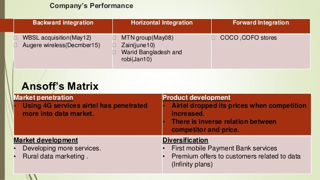 ansoff matrix of vodafone Vodafone airtouch plc and verizon wireless: good examples of mergers   ansoff, i h (1957), strategies for diversification, harvard business review, vol  35.