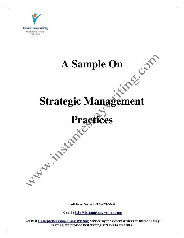 what is strategic entrepreneurship quizlet