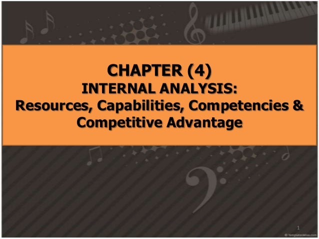 CHAPTER (4) INTERNAL ANALYSIS: Resources, Capabilities, Competencies & Competitive Advantage 1