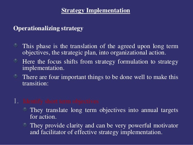 process of strategy implementation pdf