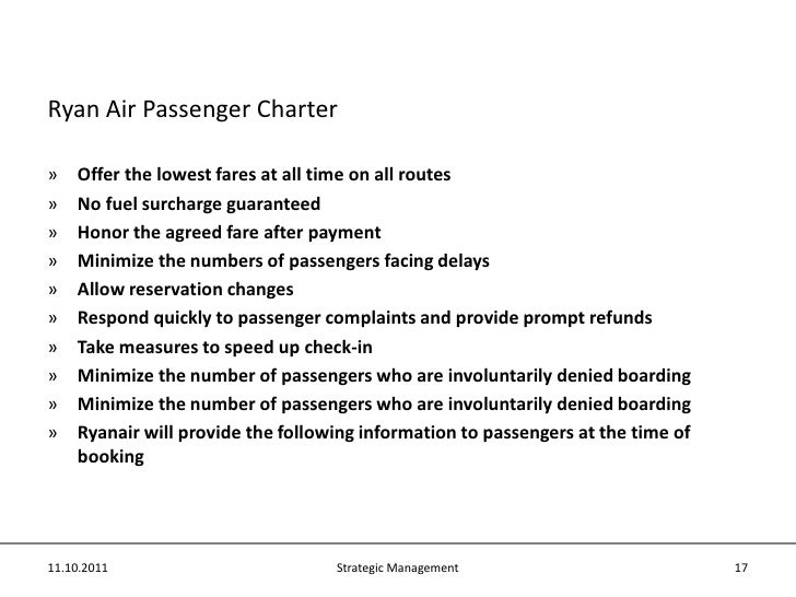 strategic management of ryan air Published: mon, 24 apr 2017 a jenoir management consultant is providing consultant service for strategic management of the companies senior management team of ryan air details on the contracts signed with jenoir management consulting company for get the consulting service in strategic management of the ryan air's future.