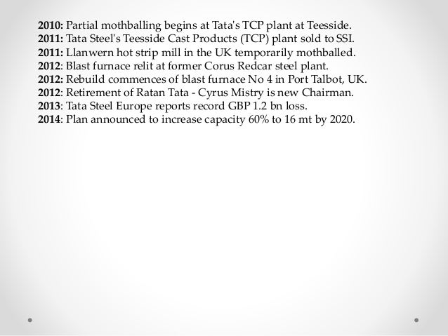 strategy of tata corus acquisition Tata corus acquisition: from both the companies to provide a common platform for strategy and integration mr rn tata will be the chairman of tata.