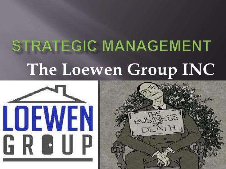 the loewen group inc abridged Loewen group, inc (abridged) - teaching note tufano, peter instructor's note hbs-204138-e finance  harvard business publishing english description.