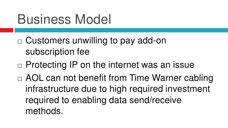 Business Model   Customers unwilling to pay add-on    subscription fee   Protecting IP on the internet was an issue   A...