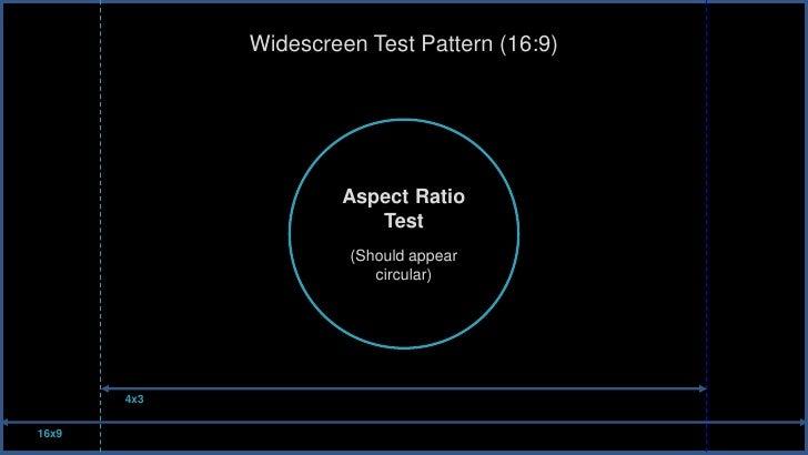 Widescreen Test Pattern (16:9)                      Aspect Ratio                         Test                      (Should...
