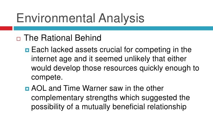 Environmental Analysis   The Rational Behind     Each  lacked assets crucial for competing in the      internet age and ...