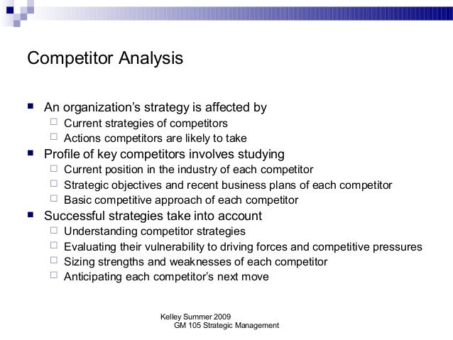 competitor analysis anticipating competitive actions Before taking competitive action, managers must anticipate the actions of their competitors this can only be accomplished by performing thorough competitor analysis product #: 701120-pdf-eng.