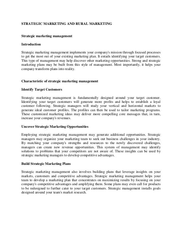 Strategic Marketing And Rural Marketing 1 638gcb1377133995