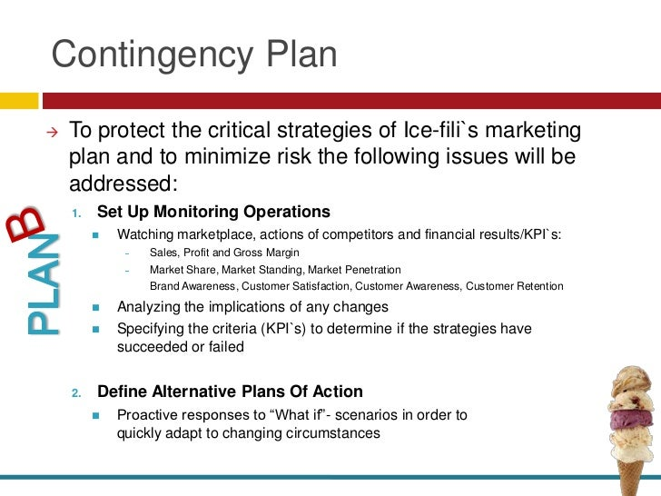how to write a contingency plan for a marketing plan