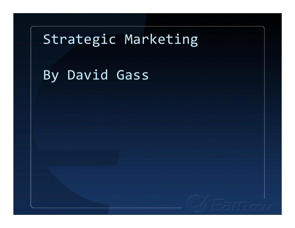 StrategicMarketing  ByDavidGass