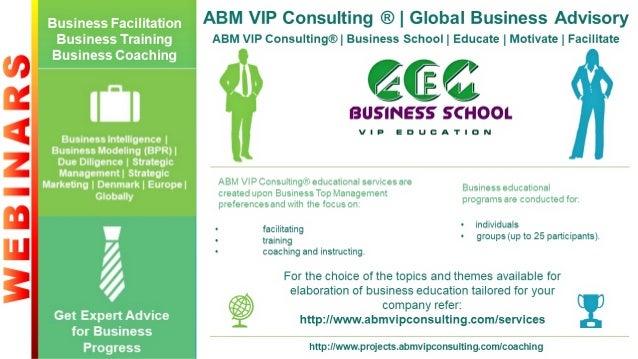 ABM VIP Consulting® | Business School | Educate | Motivate | Facilitate