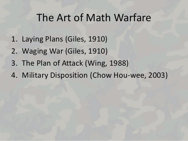 calculus in warfare Conventional forces absorb the preponderance of america's defense spending further, most experts believe the most likely path to nuclear war is through a failure of conventional defense it is .