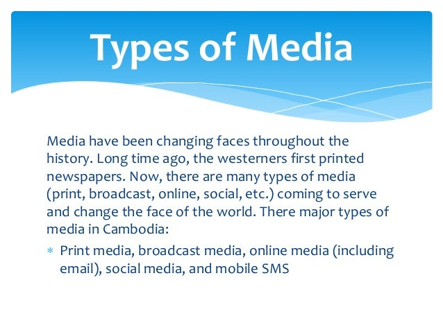 What Are the Different Types of Media?