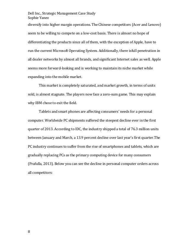 Dell strategic management final paper 8 dell inc strategic management case study maxwellsz