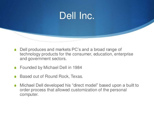 dell case study strategic management Case study: dellcom by james maguire questions to consider: what is the direct business model what are the strengths and limitations of the direct model.