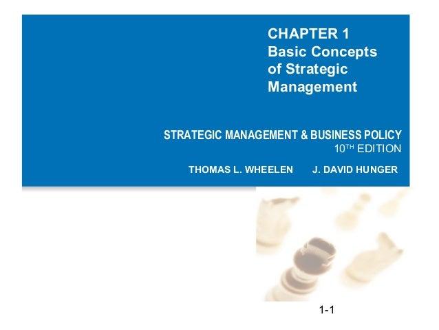 CHAPTER 1                Basic Concepts                of Strategic                ManagementSTRATEGIC MANAGEMENT & BUSINE...