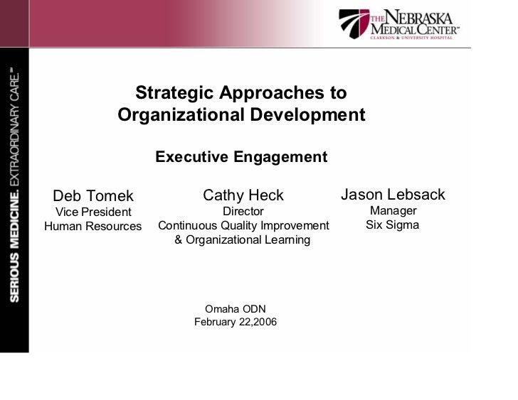 Strategic Approaches to            Organizational Development                    Executive Engagement   Deb Tomek         ...