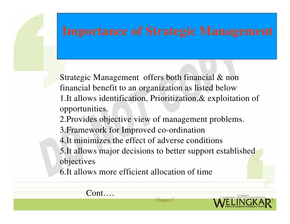 imporatance of strategic operations management The necessity for institutional leaders and senior management to deliver clear institutional vision and corporate strategy has never been greater information and an institution's strategic plan may require ict to support the delivery of operational, strategic or transformational objectives key findings from our research have.