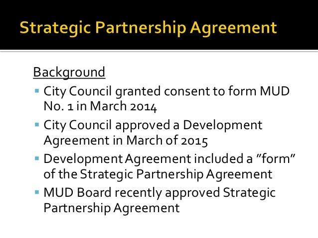 Strategic Partnership Agreement With Brazos County Municipal Utility