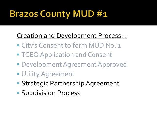 Strategic Partnership Agreement With Brazos County MUD No 1