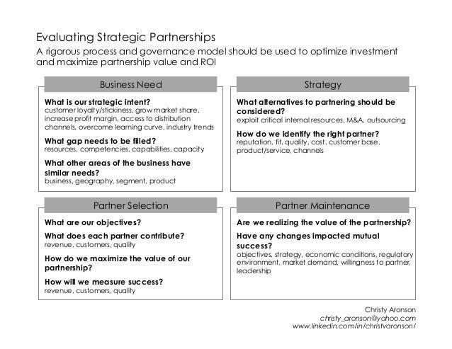 Planning & Executing Strategic Partnerships A Marketing