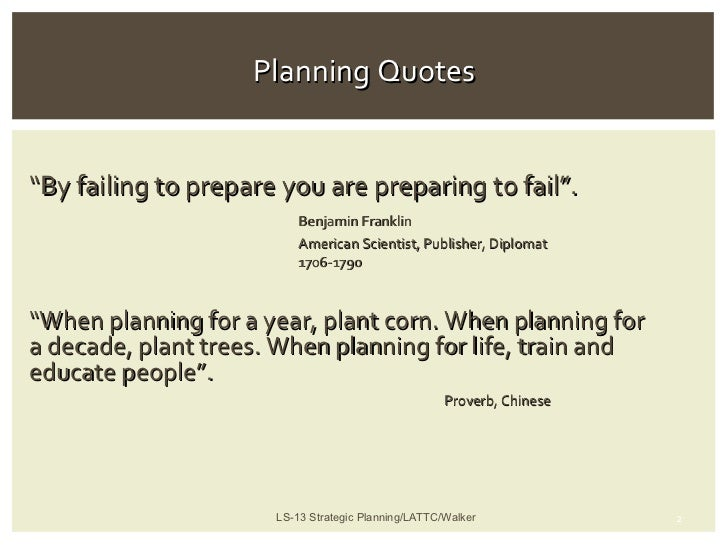 Planning Quotes
