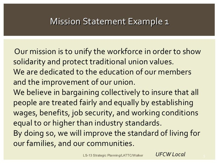 Union Leadership  Strategic Planning