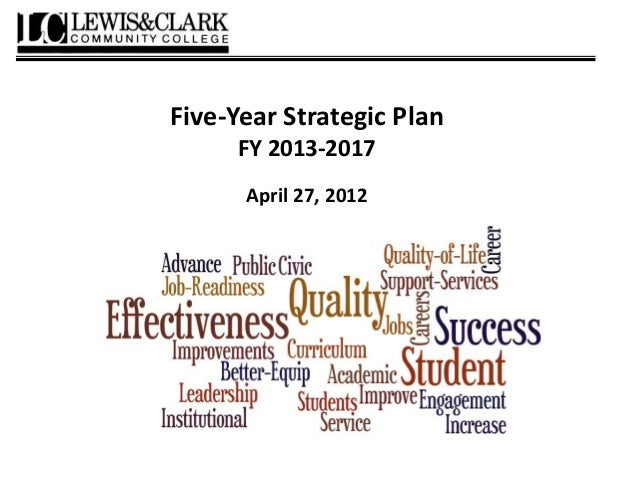Five-Year Strategic Plan FY 2013-2017 April 27, 2012