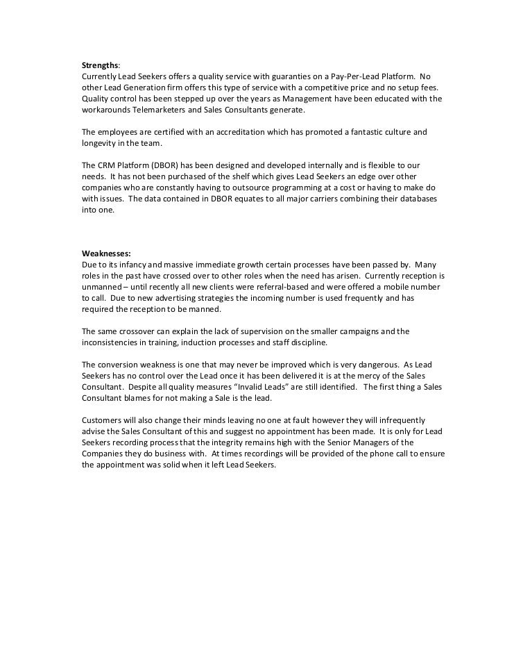 strategic planning assignment