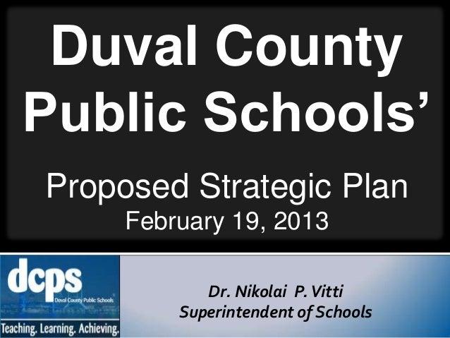 Duval County Public Schools Proposed Strategic Plan