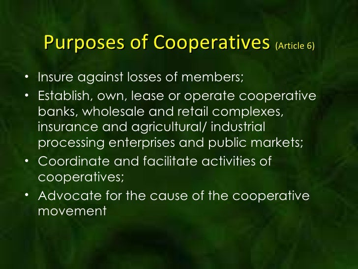 Cooperative business plans