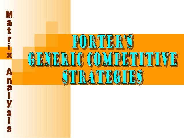 Competitive Strategies  Differentiation Provide unique product to a target market Organization seeks attributes that ma...