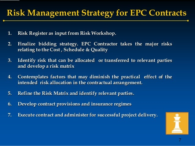 management of contractual risks Managing risk in the procurement process  take specific procedural steps to prepare a purchase or contract  fiscal management proposals & bids negotiating.