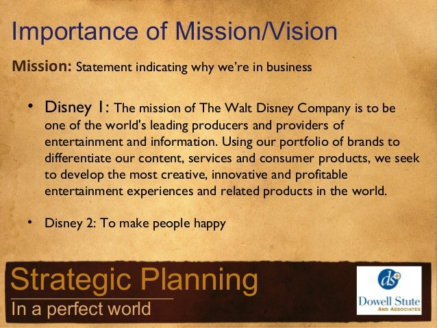 importance of mission