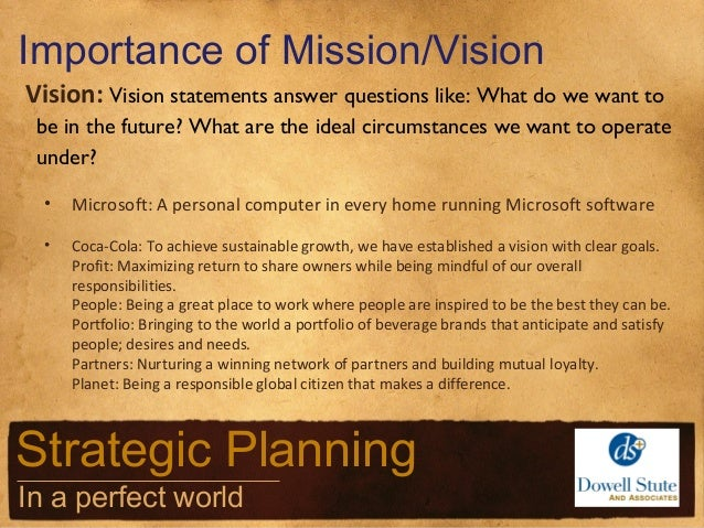 High Quality Importance Of Mission/VisionVision: Vision Statements ...