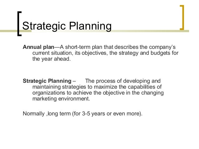 Strategic Planning And Mission Statement