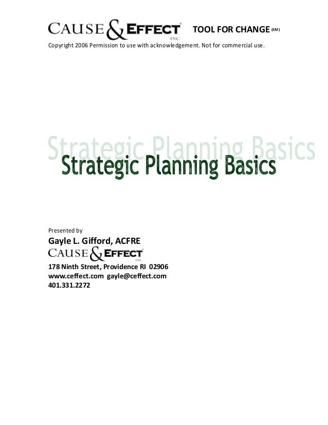 A step by step plan to nonprofit strategic planning